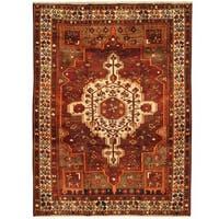 Handmade Herat Oriental Persian Bakhtiari Wool Rug (Iran) - 5'4 x 7'3