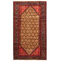 Herat Oriental Persian Hand-knotted Shiraz Wool Rug - 4'1 x 7'1