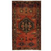 Herat Oriental Persian Hand-knotted Hamadan Wool Rug (4'7 x 7'10)