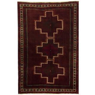 Herat Oriental Persian Hand-knotted Kurdish Wool Rug (4'2 x 6'10)