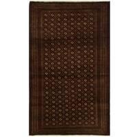 Herat Oriental Persian Hand-knotted Turkoman Wool Rug (4'6 x 7'5)