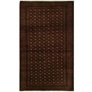 Handmade Herat Oriental Persian Turkoman Wool Rug - 4'6 x 7'5 (Iran)