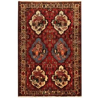 Herat Oriental Persian Hand-knotted Hamadan Wool Rug (5' x 7'3)