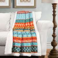 Lush Decor Valerie Stripe Sherpa Throw