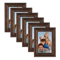 DesignOvation Kieva Solid Wood Picture Frame Set of 6