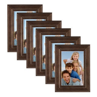 DesignOvation Kieva Solid Wood Picture Frame Set
