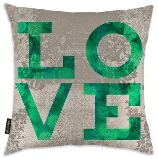 Oliver Gal 'Build on Love Fresh'Decorative Pillow