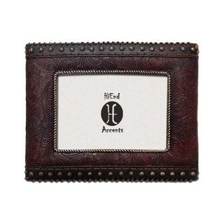 HiEnd Accents Tooled Leather With Studded Sides (Ea)