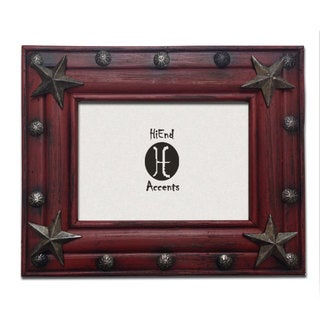 HiEnd Accents Painted Distressed Wood W/Tacks & Stars (Ea) 5X7