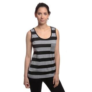 Womens Stylish Striped Pocket Tanktop