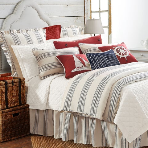 HiEnd Accents 3-Piece Prescott Stripe Duvet Cover Set
