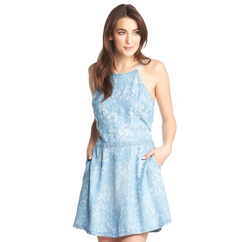 Tart Collections Tulula White and Blue Denim Dress