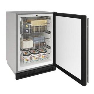 U-Line 24-inch Reversible Hinge Stainless Door 115v Outdoor Convertible Freezer
