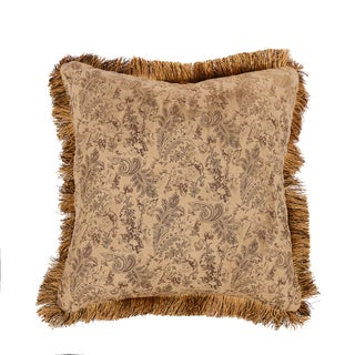 HiEnd Accents Small Paisley W/Fringe 18 X 18 Light Tan
