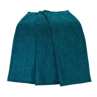 HiEnd Accents Chenille Leopard Teal Throw