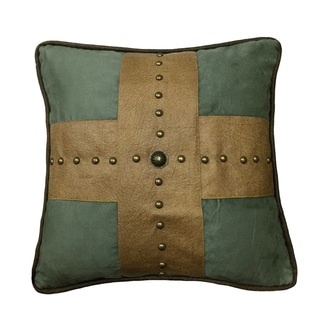 HiEnd Accents Multicolor 18 x 18-inch Studded Cross Throw Pillow