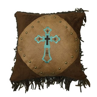 HiEnd Accents Embroidered CrossThrow Pillow 18 X 18