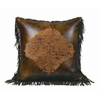 HiEnd Accents Embroidered Design 18-inch Throw Pillow