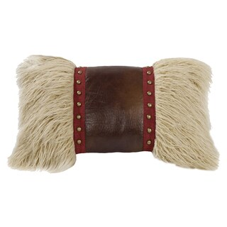 HiEnd Accents Mongolian Fur Throw Pillow