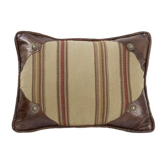 HiEnd Accents Striped Oblong Throw Pillow with Scalloped Corners