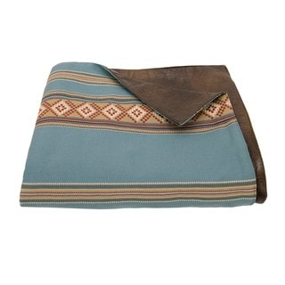 "HiEnd Accents Turquoise Stripe Throw (50"" x 58"")"