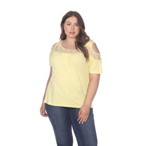 White Mark Women's Plus Size Bexley Tunic Top