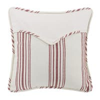 """HiEnd Accents Striped Envelope Red Throw Pillow (18"""" x 18"""")"""