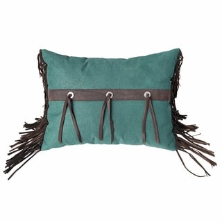 HiEnd Accents Cheyenne Turquoise 16 x 21-inch Pillow