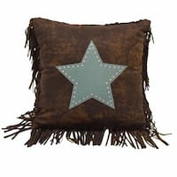HiEnd Accents Cheyenne Star Turquoise 18 x 18-inch Throw Pillow