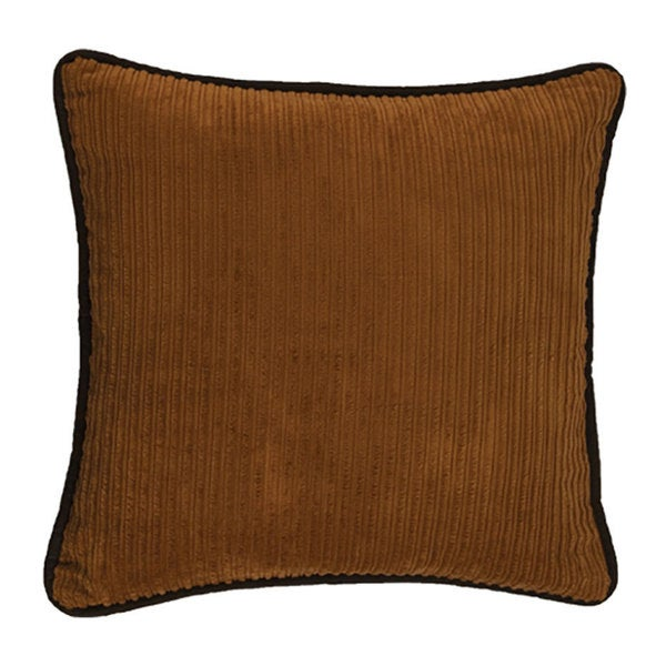 Brown Corduroy Throw Pillow : HiEnd Accents Brown Corduroy and Faux Leather 18-inch Square Throw Pillow - Free Shipping On ...