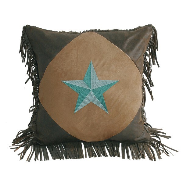HiEnd Accents Diamond Shape StarThrow Pillow 18 X 18 Turquoise