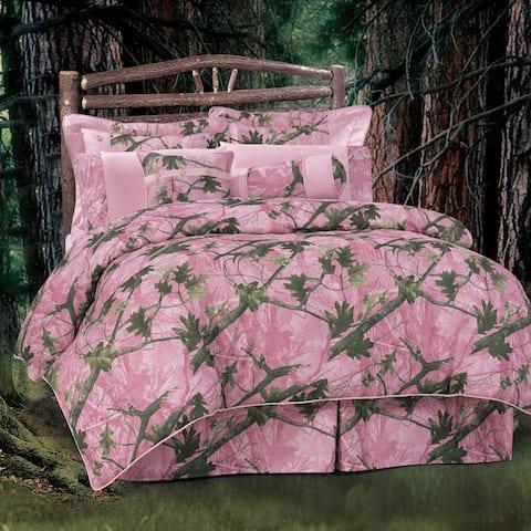 HiEnd Accents Oak Pink Camo Comforter Set