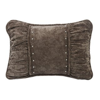 HiEnd Accents Shirred Fabric Throw Pillow With Cross Detail
