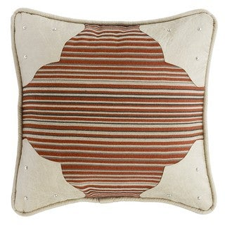 HiEnd Accents Faux Leather 18 x 18-inch Corner Scallop Throw Pillow
