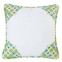 HiEnd Accents Scalloped Edges Multicolored 18-inch Throw Pillow