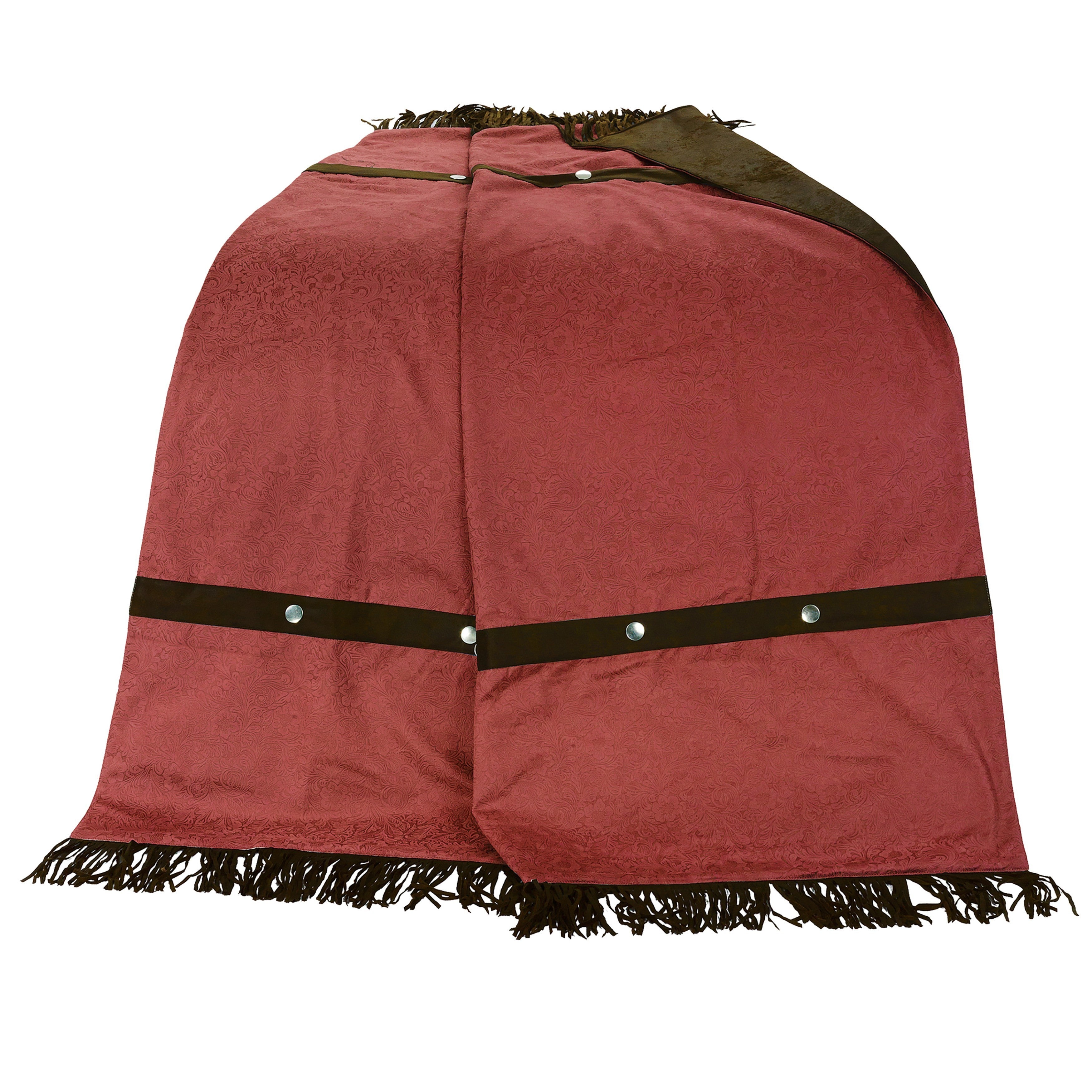 HiEnd Accents Cheyenne Fringed Throw (Red) (Polyester, So...