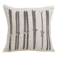 "HiEnd Accents Printed Ski Throw Pillow (16"" x 21"")"