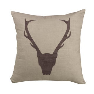 HiEnd Accents Antler Brown 18-inch Printed Throw Pillow