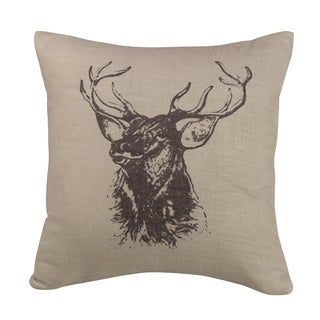 HiEnd Accents Elk BustThrow Pillow 18 X 18