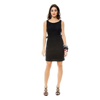 Sara Boo Black Lace Dress with Buckle Detail