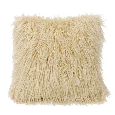 HiEnd Accents Mongolian Faux Fur Throw Pillow
