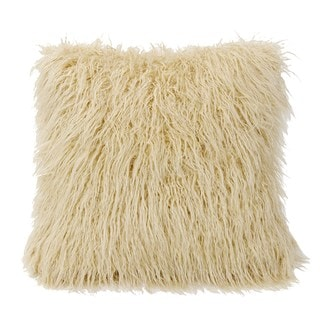 HiEnd Accents Mongolian Faux Fur Throw Pillow