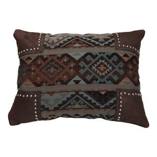 HiEnd Accents Southwestern Scalloped 16x20 Chenille Pillow