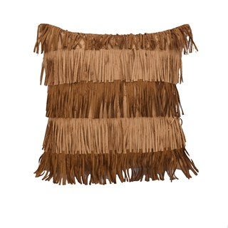 HiEnd Accents 18x18 Alternating Fringe Throw Pillow