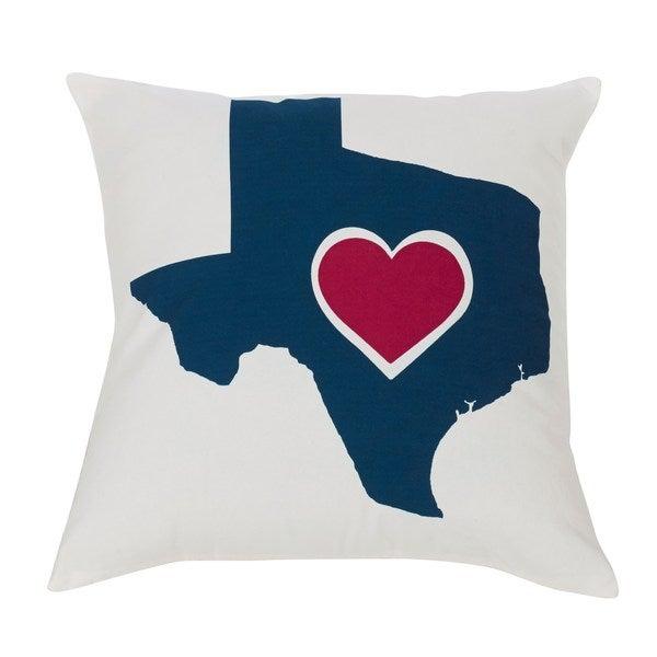 HiEnd Accents Texas Heart Throw Pillow