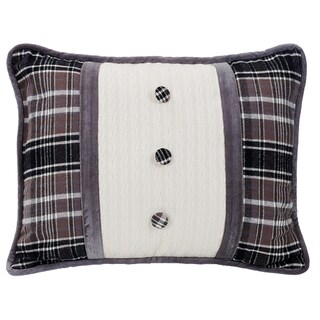 HiEnd Accents Whistler Buttoned Oblong Throw Pillow