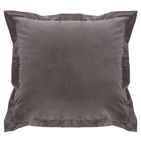HiEnd Accents Whistler Grey Velvet Throw Pillow