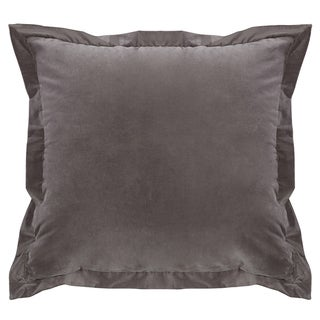 HiEnd Accents Whistler Grey Velvet Throw Pillow