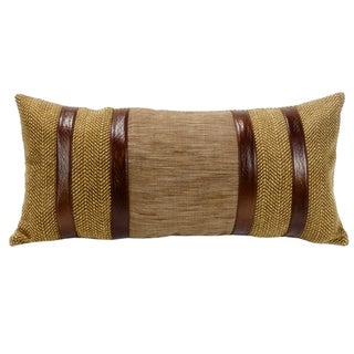 HiEnd Accents Herringbone With Faux Lether Stripes 12X26
