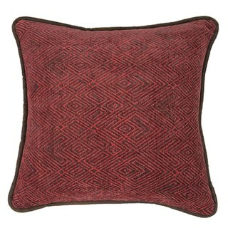 HiEnd Accents Red ChenilleThrow Pillow 18 X 18